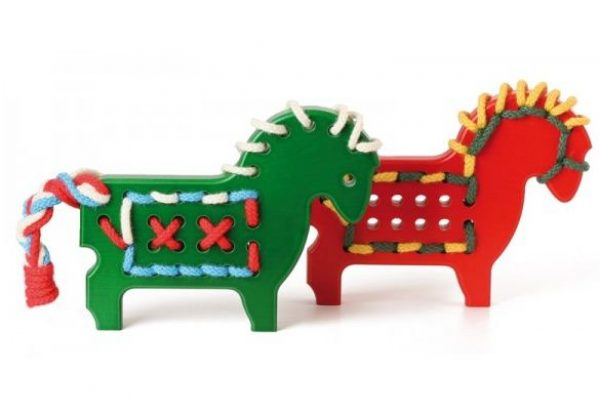 naef ponies green and red